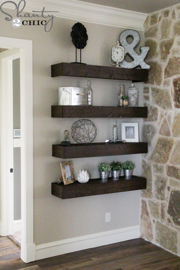 Floating Shelves Work Wonders For Plain Walls. They Decorate The Wall And  Provide Streamlined And Stylish Storage Solutions Without Hogging Floor  Space.